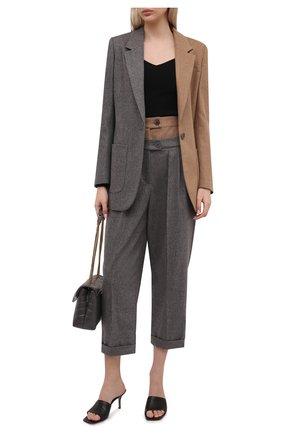 Женские шерстяные брюки LORENA ANTONIAZZI серого цвета, арт. A2131PA16A/3273 | Фото 2