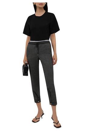 Женские шерстяные брюки LORENA ANTONIAZZI темно-серого цвета, арт. A2136PA47A/3560 | Фото 2