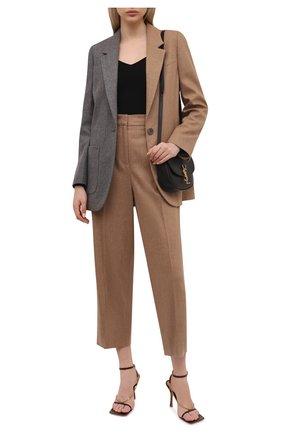 Женские шерстяные брюки LORENA ANTONIAZZI бежевого цвета, арт. A2139PA29A/3273 | Фото 2