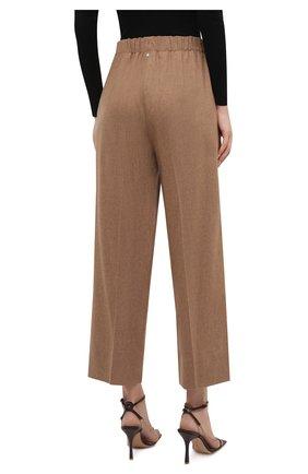 Женские шерстяные брюки LORENA ANTONIAZZI бежевого цвета, арт. A2139PA29A/3273 | Фото 4