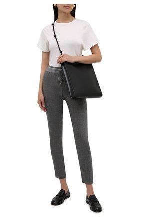 Женские шерстяные брюки LORENA ANTONIAZZI серого цвета, арт. A2139PA80A/3273 | Фото 2