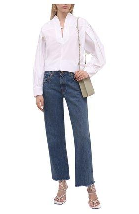 Женская хлопковая блузка LORENA ANTONIAZZI белого цвета, арт. A2149CA50A/3434 | Фото 2