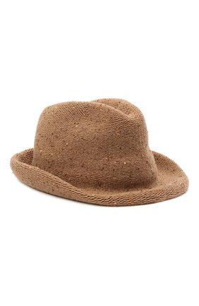 Женская шляпа из шерсти и кашемира LORENA ANTONIAZZI бежевого цвета, арт. A2197CE004/2535 | Фото 1 (Материал: Кашемир, Шерсть)