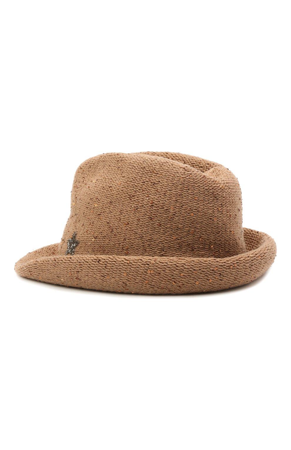 Женская шляпа из шерсти и кашемира LORENA ANTONIAZZI бежевого цвета, арт. A2197CE004/2535 | Фото 2 (Материал: Кашемир, Шерсть)