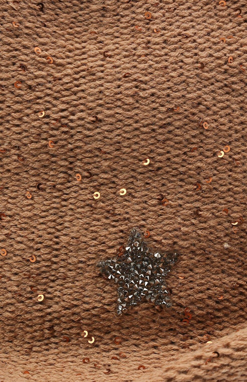Женская шляпа из шерсти и кашемира LORENA ANTONIAZZI бежевого цвета, арт. A2197CE004/2535 | Фото 3 (Материал: Кашемир, Шерсть)