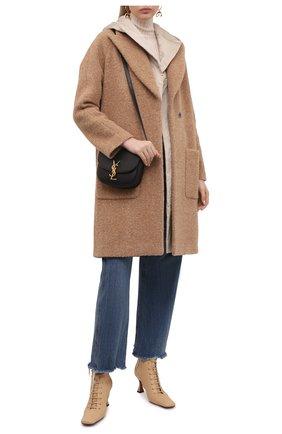 Женское шерстяное пальто LORENA ANTONIAZZI бежевого цвета, арт. A2105CP11B/3570 | Фото 2