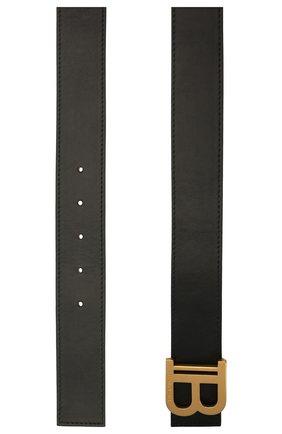 Женский кожаный ремень BALMAIN черного цвета, арт. WN1WJ002/LVTL | Фото 2