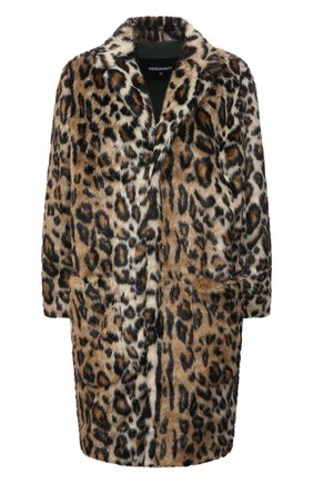 Женская шуба из экомеха DSQUARED2 леопардового цвета, арт. S75AA0371/S53013 | Фото 1