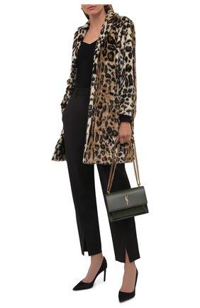 Женская шуба из экомеха DSQUARED2 леопардового цвета, арт. S75AA0371/S53013 | Фото 2