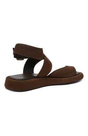 Женские замшевые сандалии GIA COUTURE темно-коричневого цвета, арт. R0SIE-4 A 213 | Фото 4