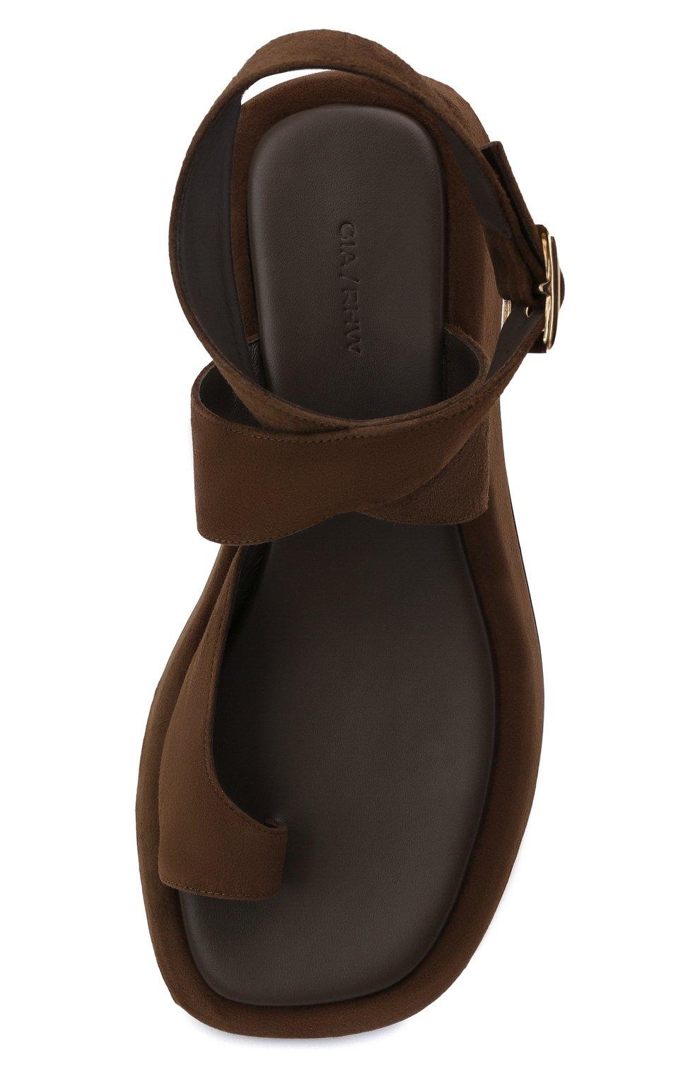 Женские замшевые сандалии GIA COUTURE темно-коричневого цвета, арт. R0SIE-4 A 213 | Фото 5