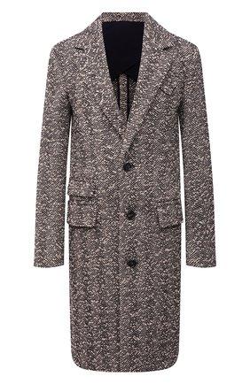 Женское шерстяное пальто BOTTEGA VENETA бежевого цвета, арт. 663385/V0XP0   Фото 1 (Материал внешний: Шерсть; Длина (верхняя одежда): До колена; Рукава: Длинные; Стили: Кэжуэл; Материал подклада: Вискоза; 1-2-бортные: Однобортные)