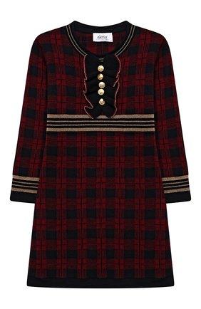 Детское шерстяное платье ALETTA бордового цвета, арт. AKF210804-71/4A-8A | Фото 1 (Материал внешний: Шерсть; Случай: Повседневный; Рукава: Длинные; Девочки Кросс-КТ: Платье-одежда; Ростовка одежда: 6 лет | 116 см, 7 лет | 122 см, 8 лет | 128 см)