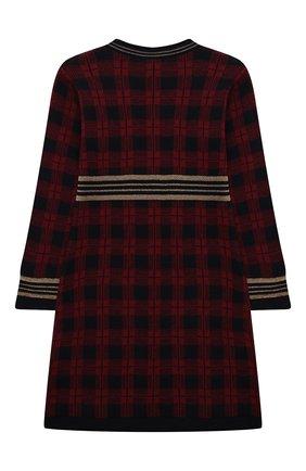 Детское шерстяное платье ALETTA бордового цвета, арт. AKF210804-71/4A-8A | Фото 2 (Материал внешний: Шерсть; Случай: Повседневный; Рукава: Длинные; Девочки Кросс-КТ: Платье-одежда; Ростовка одежда: 6 лет | 116 см, 7 лет | 122 см, 8 лет | 128 см)