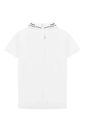 Детское хлопковая блузка ALETTA белого цвета, арт. AJ210513C-54/4A-8A | Фото 2