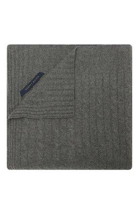 Кашемировый плед RALPH LAUREN серого цвета, арт. 650194528 | Фото 1