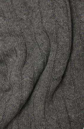 Кашемировый плед RALPH LAUREN серого цвета, арт. 650194528 | Фото 2