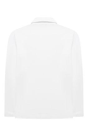 Детское хлопковое поло ALETTA белого цвета, арт. AM210447LR-28/4A-8A | Фото 2