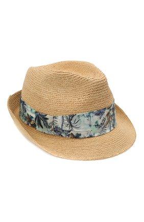 Детская соломенная шляпа BONPOINT светло-бежевого цвета, арт. S01BDIWO0301(006)_842824 | Фото 1
