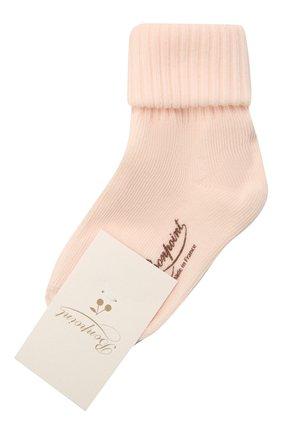 Детские хлопковые носки BONPOINT светло-розового цвета, арт. PEBGICOTFIB(021)_850149   Фото 1