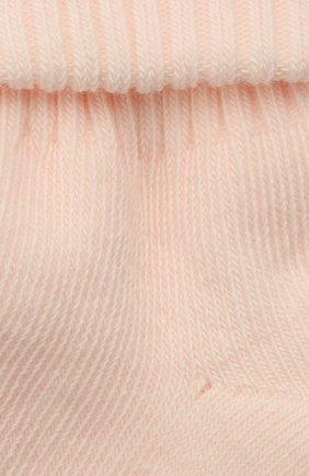 Детские хлопковые носки BONPOINT светло-розового цвета, арт. PEBGICOTFIB(021)_850149   Фото 2