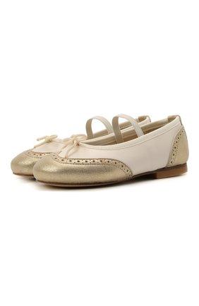 Кожаные балетки | Фото №1