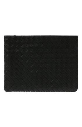 Мужская кожаная папка для документов BOTTEGA VENETA черного цвета, арт. 607479/VCPQ5 | Фото 1