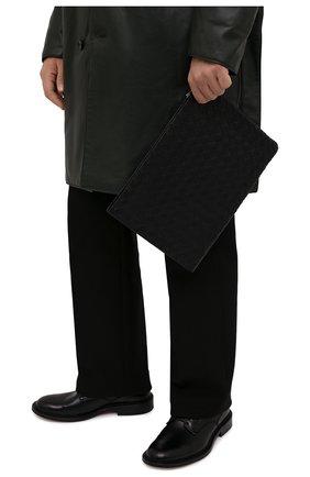 Мужская кожаная папка для документов BOTTEGA VENETA черного цвета, арт. 607479/VCPQ5 | Фото 2