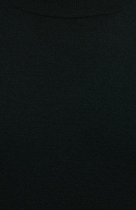 Мужской шерстяной джемпер BOTTEGA VENETA темно-зеленого цвета, арт. 666654/V0ZY0 | Фото 5 (Мужское Кросс-КТ: Джемперы; Материал внешний: Шерсть; Рукава: Длинные; Принт: Без принта; Длина (для топов): Стандартные; Вырез: Круглый)