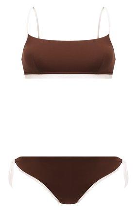 Женский раздельный купальник MAX MARA коричневого цвета, арт. 1NARO 38313118-2GONDOL 38312218 | Фото 1