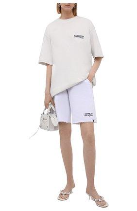 Женские хлопковые шорты COMME DES FUCKDOWN белого цвета, арт. CDFD1507   Фото 2
