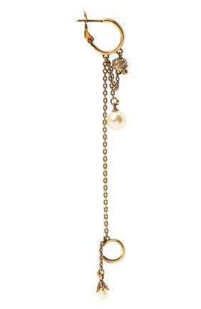 Женские моносерьга ALEXANDER MCQUEEN золотого цвета, арт. 667547/J160Z | Фото 1