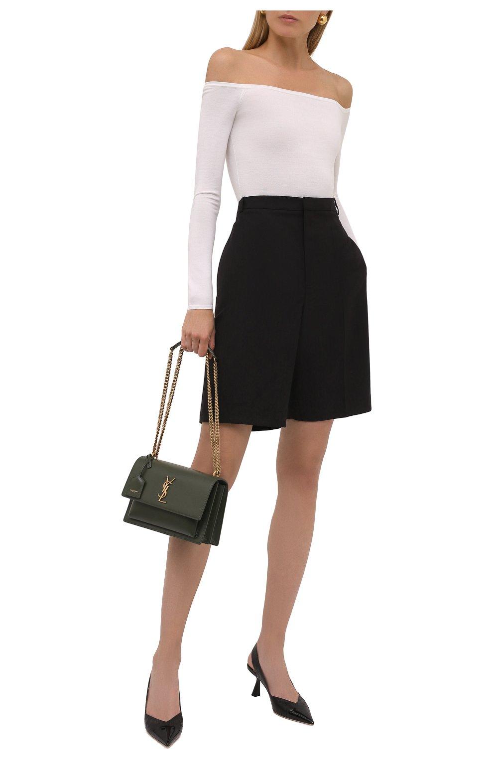 Женские кожаные туфли liya 65 JIMMY CHOO черного цвета, арт. LIYA 65/ZY0 | Фото 2 (Материал внутренний: Натуральная кожа; Каблук высота: Средний; Каблук тип: Фигурный; Подошва: Плоская)