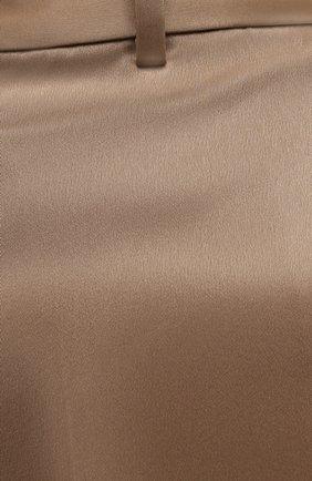 Женские шорты POLO RALPH LAUREN коричневого цвета, арт. 211839154   Фото 5 (Женское Кросс-КТ: Шорты-одежда; Длина Ж (юбки, платья, шорты): Мини; Материал внешний: Синтетический материал; Стили: Романтичный)