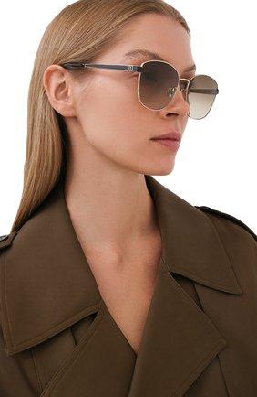 Женские солнцезащитные очки SAINT LAURENT коричневого цвета, арт. 635980/Y9948   Фото 2
