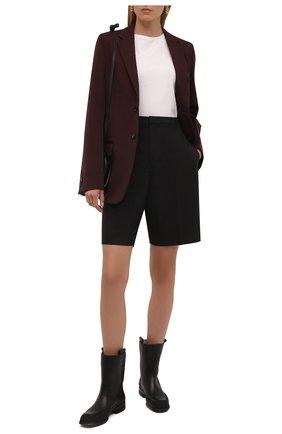 Женские кожаные полусапоги grunge THE ROW черного цвета, арт. F1192-L65 | Фото 2