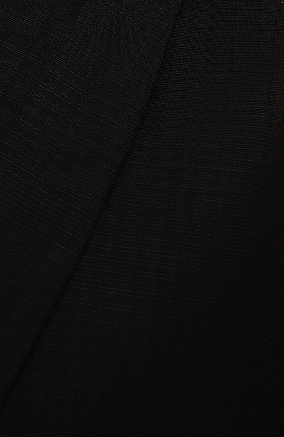 Женский жакет из вискозы TOTÊME черного цвета, арт. 213-122-709 | Фото 5 (Рукава: Длинные; Случай: Повседневный; Длина (для топов): Удлиненные; Материал подклада: Синтетический материал, Вискоза; 1-2-бортные: Однобортные; Материал внешний: Вискоза; Женское Кросс-КТ: Жакет-одежда; Стили: Кэжуэл)