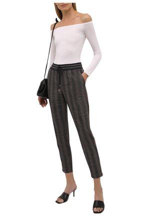Женские шерстяные брюки LORENA ANTONIAZZI коричневого цвета, арт. A2137PA80A/3539 | Фото 2