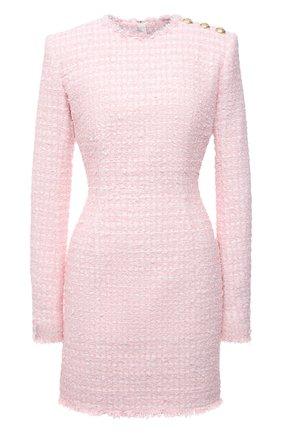 Женское платье BALMAIN светло-розового цвета, арт. WF1R8000/X492 | Фото 1