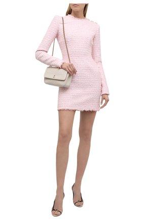 Женское платье BALMAIN светло-розового цвета, арт. WF1R8000/X492 | Фото 2