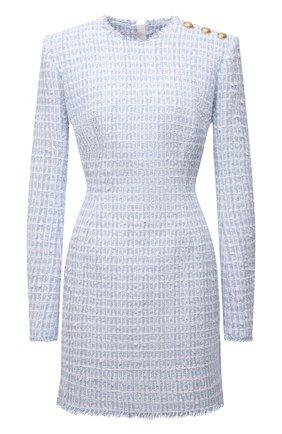 Женское платье BALMAIN светло-голубого цвета, арт. WF1R8000/X490 | Фото 1
