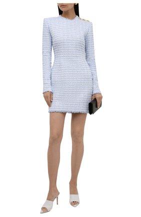Женское платье BALMAIN светло-голубого цвета, арт. WF1R8000/X490 | Фото 2