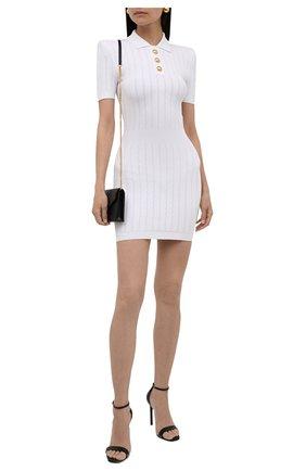 Женское платье из вискозы BALMAIN белого цвета, арт. WF1R7020/K211 | Фото 2