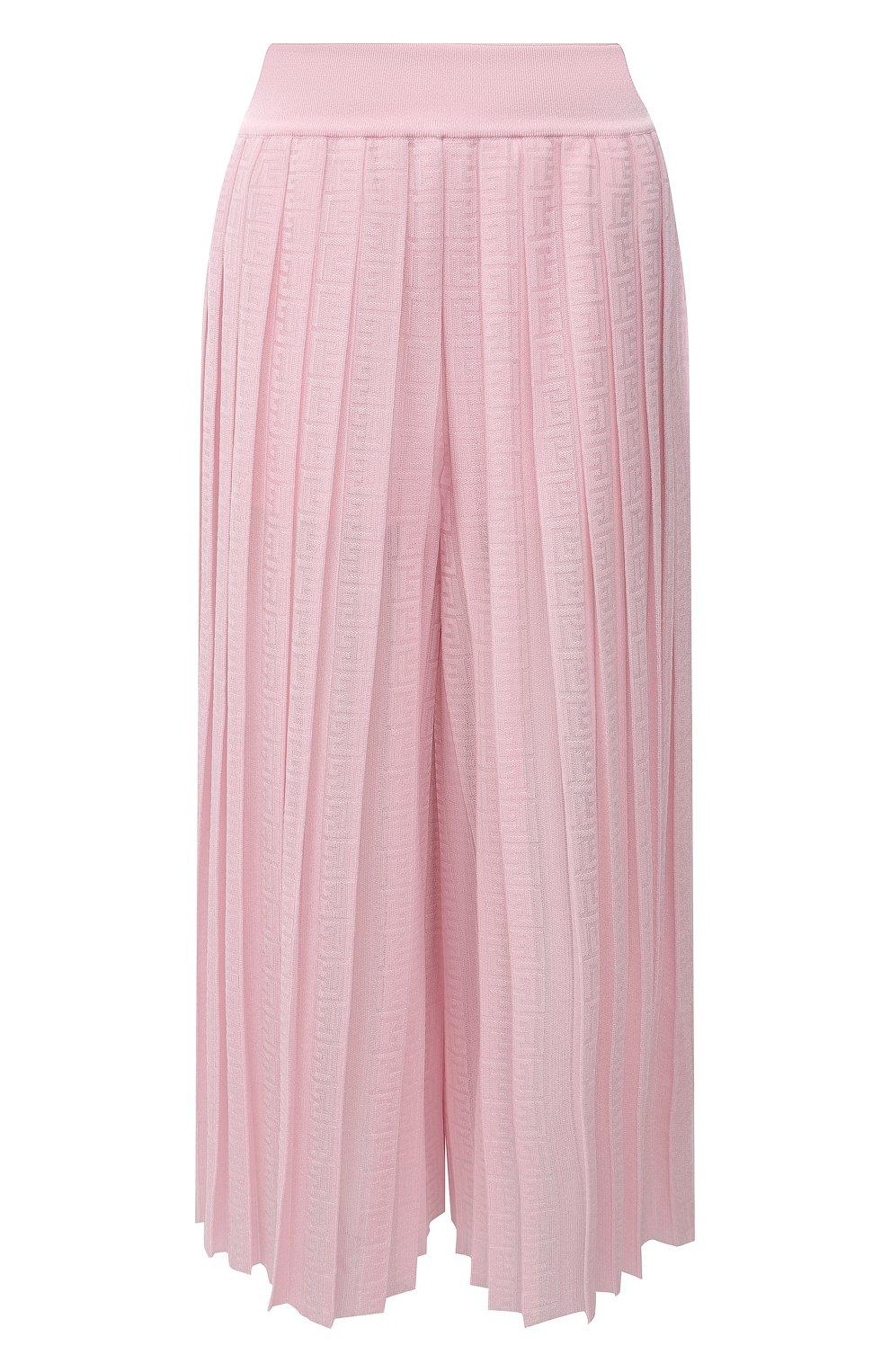 Женский кюлоты из вискозы BALMAIN светло-розового цвета, арт. WF1PQ020/K249   Фото 1