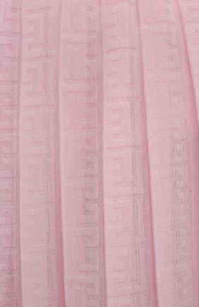 Женский кюлоты из вискозы BALMAIN светло-розового цвета, арт. WF1PQ020/K249   Фото 5