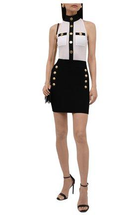 Женская юбка из вискозы BALMAIN черного цвета, арт. WF1LB190/K211 | Фото 2