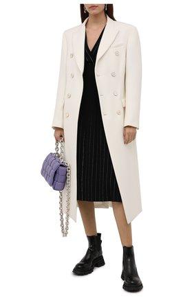 Женские кожаные ботинки ALEXANDER MCQUEEN черного цвета, арт. 666368/WHZ84 | Фото 2 (Материал внутренний: Натуральная кожа; Каблук высота: Средний; Женское Кросс-КТ: Челси-ботинки; Подошва: Платформа)