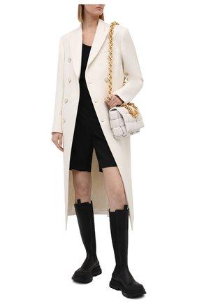 Женские кожаные сапоги ALEXANDER MCQUEEN черного цвета, арт. 666410/WHZ66 | Фото 2 (Материал внутренний: Натуральная кожа; Высота голенища: Средние; Каблук высота: Низкий; Подошва: Платформа; Каблук тип: Устойчивый)
