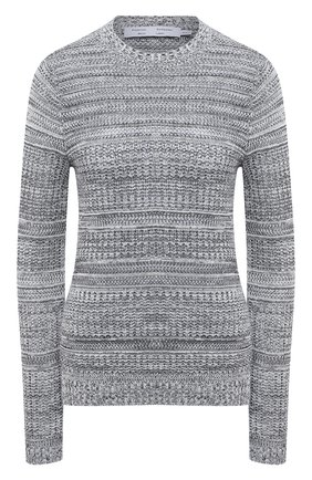 Женский пуловер из шелка и хлопка PROENZA SCHOULER WHITE LABEL серого цвета, арт. WL2137679-KS057 | Фото 1