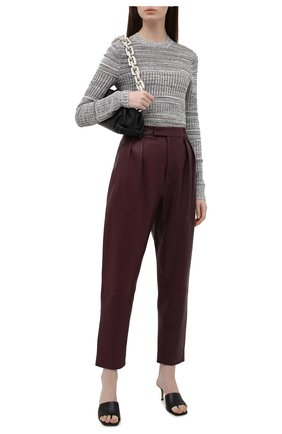 Женский пуловер из шелка и хлопка PROENZA SCHOULER WHITE LABEL серого цвета, арт. WL2137679-KS057 | Фото 2